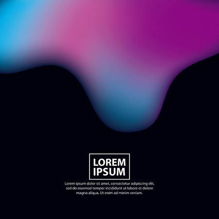 abstract covers dark background fluid melted colorful vector illustration Ilustração