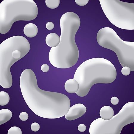 fluid abstract background drops splash purple vector illustration