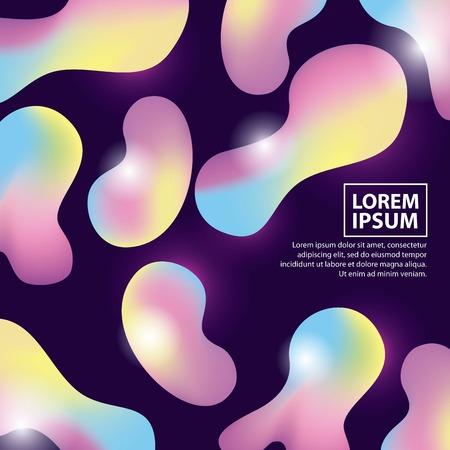 abstract covers background illumination fluid figures vector illustration