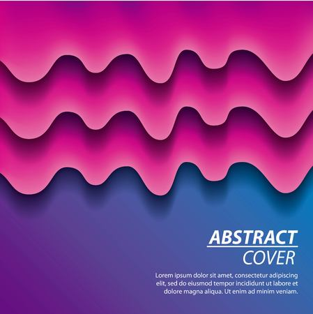 abstract covers fluids purple melted splash degrade background vector illustration