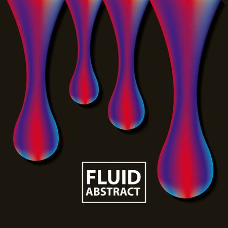 abstract covers fluids dark background mixting colors neon drops melted vector illustration