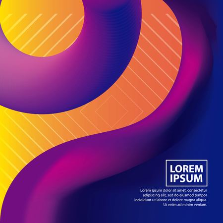 abstract covers background fluid neon colors waves vector illustration