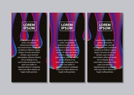 abstract covers fluids connection text banners fall drops melting vector illustration