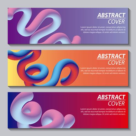 abstract covers fluids banners many waves degrade neon color vector illustration