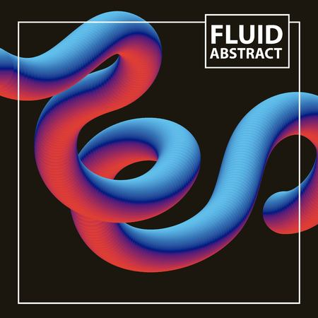 abstract covers fluids background wave degrade mixting color neon vector illustration Ilustrace
