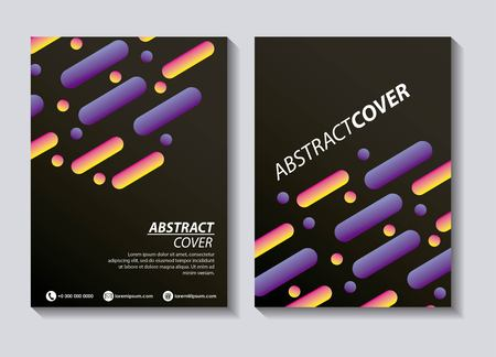 abstract covers fluids coffee background banners figures neon vector illustration