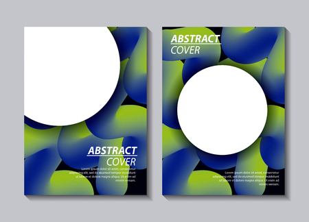abstract covers fluids white circles banners waves degrade vector illustration