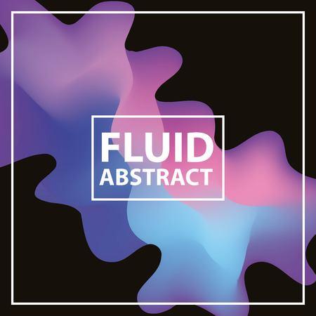 fluid abstract background neon splash figure black trendy vector illustration