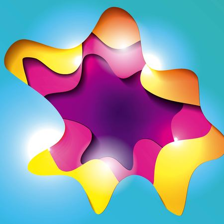 abstract covers fluids blue background illumination splash figure vector illustration Ilustrace