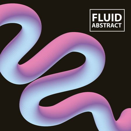 abstract covers fluids degrade wave neon vector illustration Ilustrace