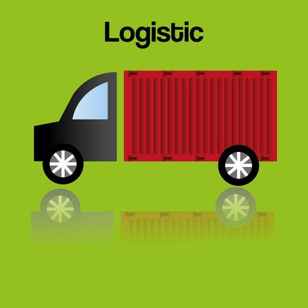 truck logistic service icon vector illustration design