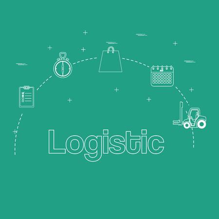logistic service set icons vector illustration design