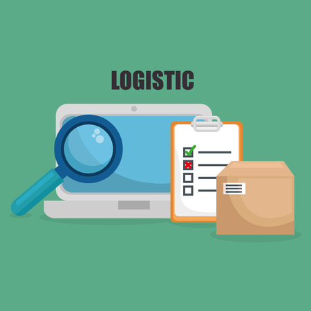 logistic service set icons vector illustration design