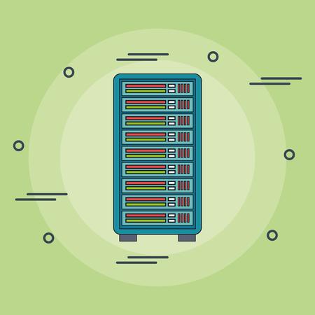 tower server computer icon vector illustration design