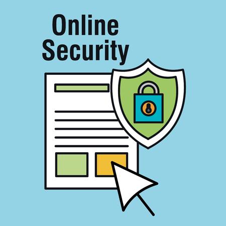 online security set icons vector illustration design Illustration
