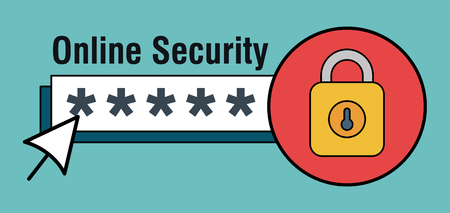 online security with padlock icons vector illustration design