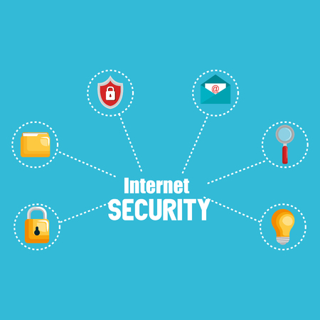 internet security set icons vector illustration design