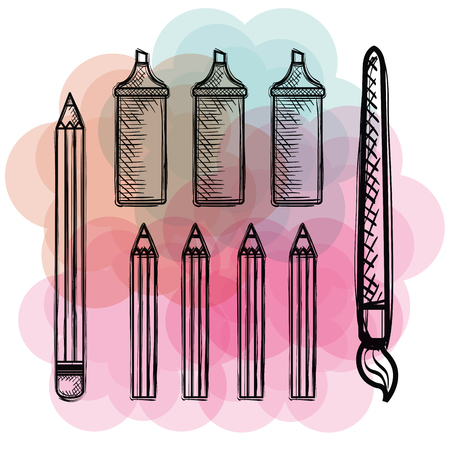 back to school set icons drawings vector illustration design Stock Vector - 102631052
