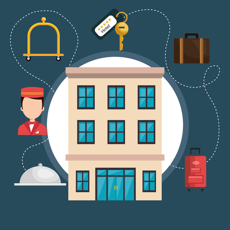 hotel services set icons vector illustration design