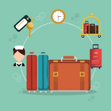 hotel services set icons vector illustration design