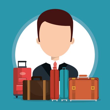 hotel concierge working avatar character vector illustration design Banque d'images - 102631655