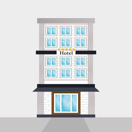 extérieur, bâtiment, scène, vecteur, illustration, conception