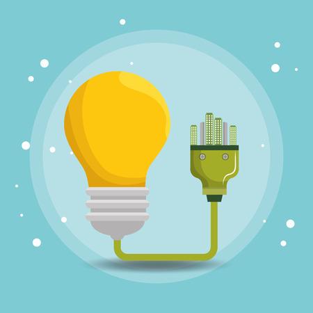 bulb energy ecology icons vector illustration design Çizim