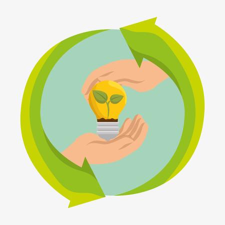 bulb energy ecology icons vector illustration design Illustration
