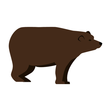 wild bear grizzly icon vector illustration design Stock Vector - 102701090