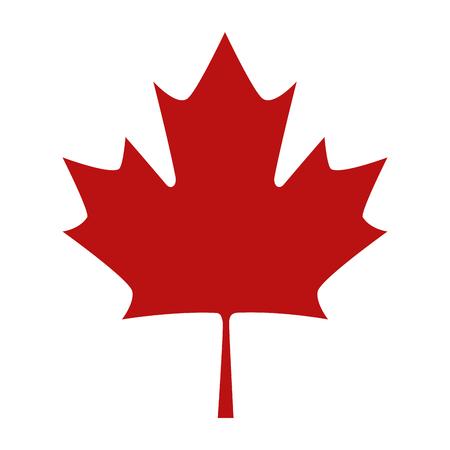 Maple Leaf emblema icona illustrazione vettoriale design