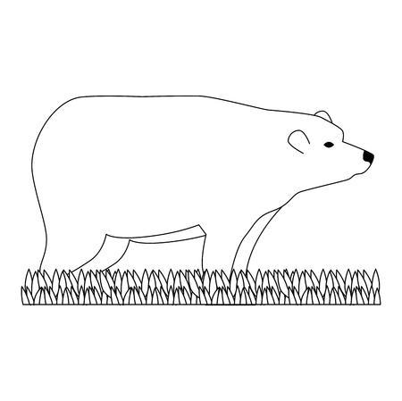 wild bear grizzly icon vector illustration design Stock Vector - 102699069