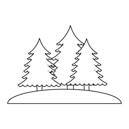 pines trees forest scene vector illustration design 版權商用圖片 - 102699072