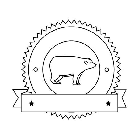 wild bear grizzly icon vector illustration design