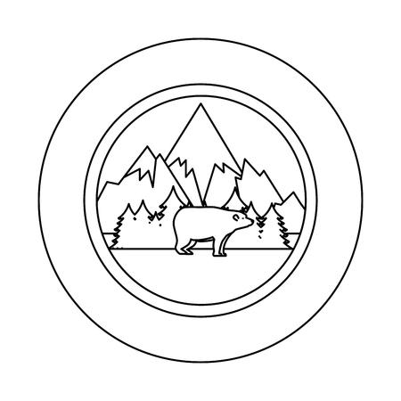 wild bear grizzly icon vector illustration design Stock Vector - 102699106