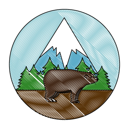 wild bear grizzly icon vector illustration design Stock Vector - 102699111