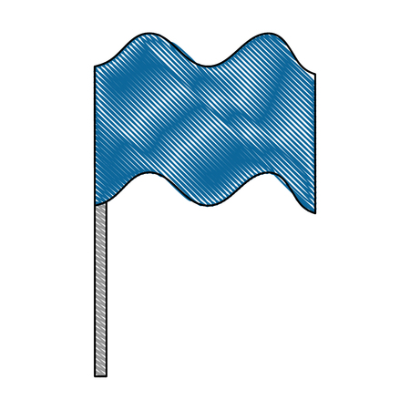 flag in pole isolated icon vector illustration design Ilustração