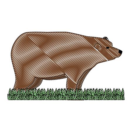 wild bear grizzly icon vector illustration design Stock Vector - 102699130
