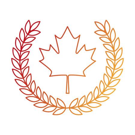 maple leaf with wreath crown vector illustration design Фото со стока - 102699255