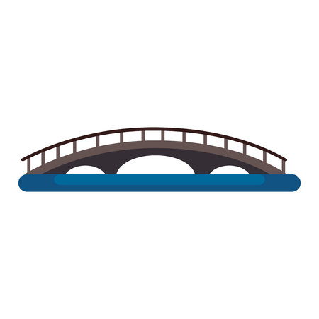 burrard bridge canadian monument vector illustration design