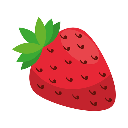 fresh strawberry fruit icon vector illustration design