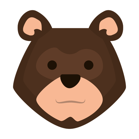 head bear grizzly icon vector illustration design
