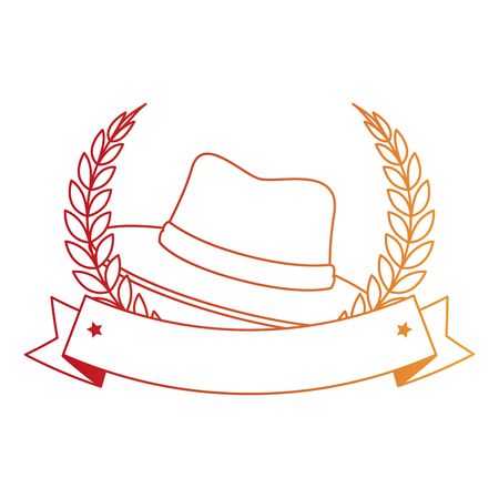 traditional canadian hat with wreath vector illustration design