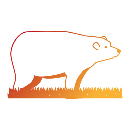 wild bear grizzly icon vector illustration design Stock Vector - 102699315