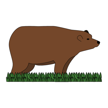 wild bear grizzly icon vector illustration design Stock Vector - 102699407