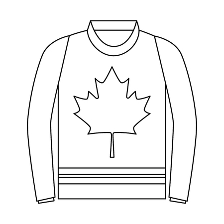 sweater with leaf maple icon vector illustration design 스톡 콘텐츠 - 102699414