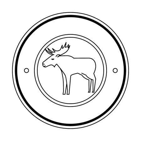 Canadian elk wild seal vector illustration design Illustration
