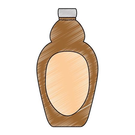 sweet maple syrup bottle vector illustration design