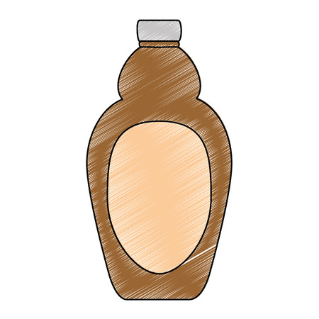 sweet maple syrup bottle vector illustration design