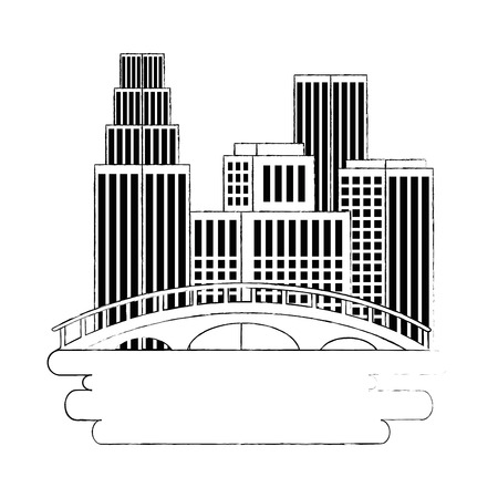 vancouver city with burrard bridge vector illustration design Illustration