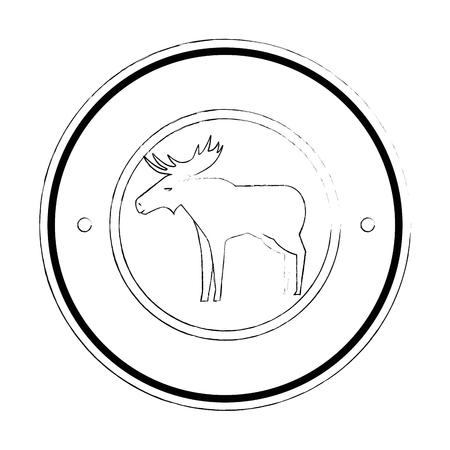 Canadian elk wild seal vector illustration design Ilustrace